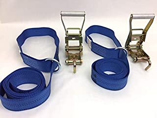 product image for Safe 'n Secure 10ft Diamond Weave Lasso Strap with O-Ring and Finger Hook Ratchet (Blue, Two)