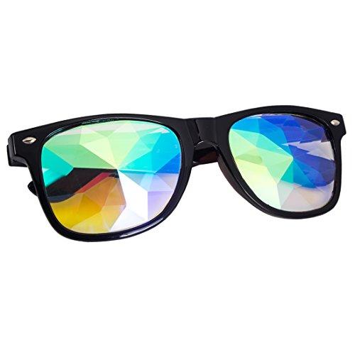 Careonline Festivals Kaleidoscope Glasses Rainbow Prism Sunglasses ()