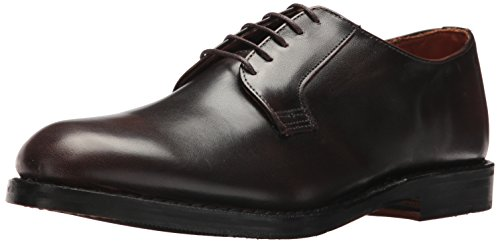 Allen Edmonds Men's Whitney Plain Toe Derby Oxford, Brown Calf, 12 D US (Mens Toe Shoes Blucher Plain)
