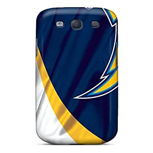 Scratch Resistant Hard Phone Covers For Samsung Galaxy S3 (PdX14840vbfl) Customized Lifelike San Diego Chargers Image
