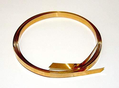 - 26 Gauge Brass Flat Bezel Wire 3/16 Inch Wide 10 Foot Package