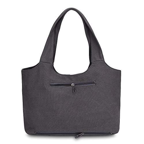 Taupe Sac Main À Quotidien En Pour Shopping Femme Toile Zhuhaimei Bandoulière sac P4nBgg