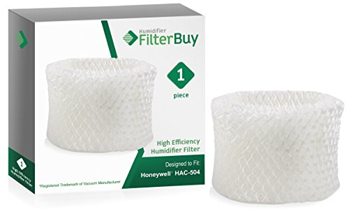 FilterBuy Honeywell HAC-504AW Compatible Humidifier Filter. Designed by to fit Honeywell HCM-600, HCM-710, HCM-300T & HCM-315T. Compare to Part # HAC-504AW/HAC-504.