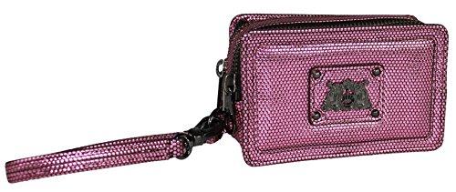 Juicy Couture Double Zip Wallet , Pink Metalic