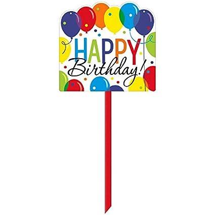 Amazon Amscan 190505 Balloon Bash Yard Sign 15 X 14 Multi
