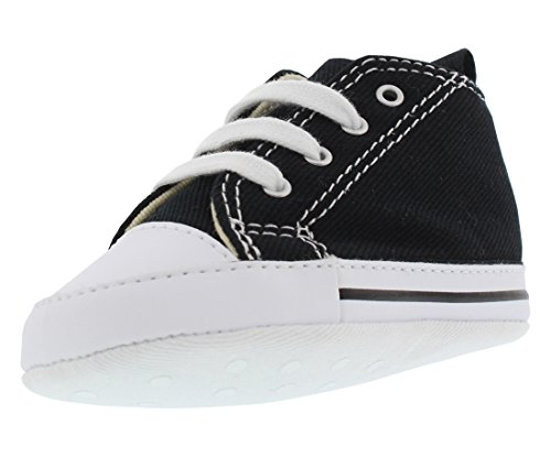 (Converse Baby First Star High Top Sneaker Black 1 M US Infant)