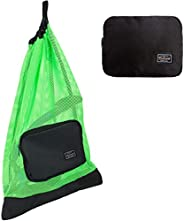 PACMAXI Snorkeling Gear Bag, Shoulder Strap Mesh Draw Bag for Scuba, Snorkel, Swim, Can Holds Diving Mask, Dry