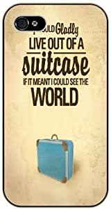 I would gladly live out of a suitcase if it mean I could see the world - Adventurer For SamSung Galaxy S5 Mini Case Cover plastic case BLACK