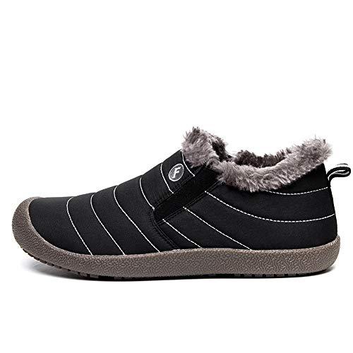Hommes Chaussures Velours Antidrapant Bottines Dcontractes Chaud Noir Plus De Jeans Ample En Bottes Et Neige Hommes Coton Coupe Pour Peluche ppTEqw7r
