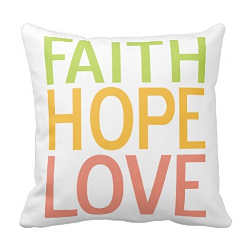 LANYE Faith Hope Love Inspirational Christian Throw Pillow Cover Cushion Case...