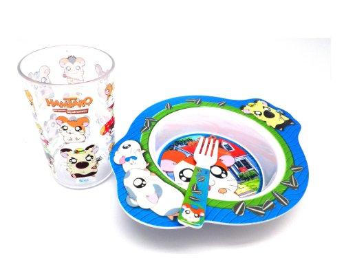 Blue Hamtaro 3 Piece Kids Dinnerware ()
