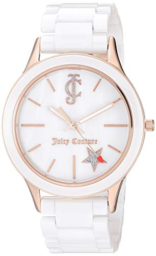 - Juicy Couture Black Label Women's  Rose Gold-Tone and White Ceramic Bracelet Watch