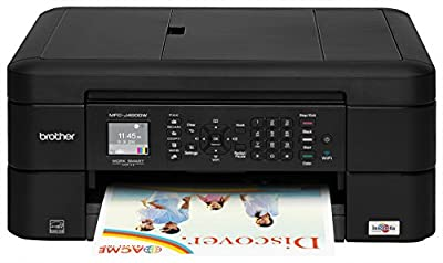 Brother Printer MFCJ460DW Wireless Color Inkjet Printer with Scanner, Copier & Fax, Amazon Dash Replenishment Enabled with ink cartridge