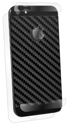 BodyGuardz BZ-ASCB5-0912 Armor Carbon Fiber Protection Skin for Apple iPhone 5 - Style Cut - 1 Pack - Retail Packaging - Black