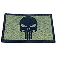 Punisher Olive Drab Bordado Airsoft Patch