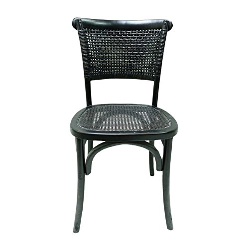 Moe's Home Collection Churchill Dining Chair Antique Black - Set of Two (FG-1001-02)