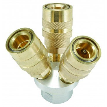 3-Way Quick Coupling Manifold 1/4