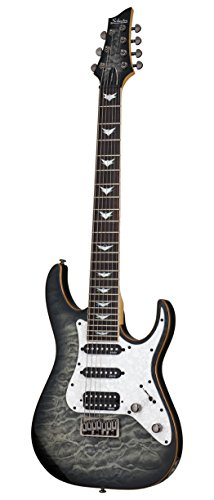 Schecter 7 String Solid-Body Electric Guitar, Charcoal Burst (1998)