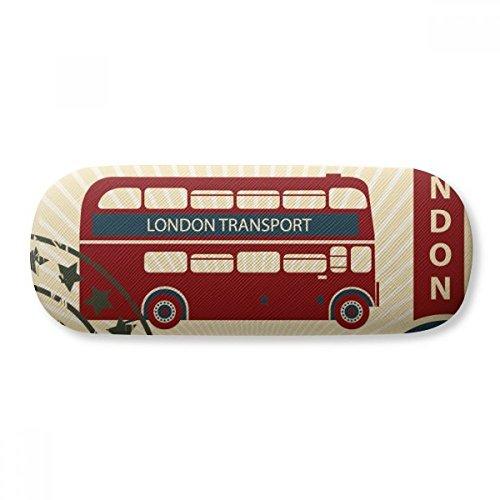 London Doubledecker Stamp England Britain UK Glasses Case Eyeglasses Clam Shell Holder Storage Box