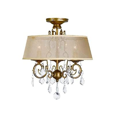 World Imports WI197390 Belle Marie 3 Light Semi-Flush Ceiling Fixture,