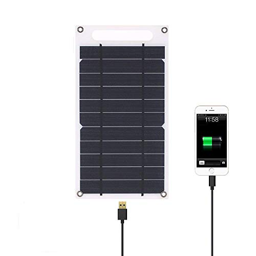 Lixada 7.8W Solar Panel Charger USB Port Portable Ultra Thin Monocrystalline Silicon for Cell Phone Camping