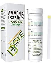 BOSIKE Aquarium Test Strips, 125 Strips Fish Tank Test Kit for Testing Freshwater Saltwater Pond Nitrate Nitrite Chlorine Carbonate Hardness (GH & KH) and pH;Aquarium Ammonia Test Strips