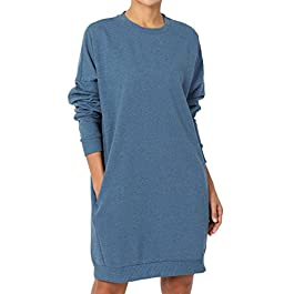 TheMogan Casual Oversized Crew V Neck Sweatshirts Loose Fit Pullover Tunic S~3XL