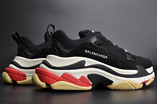 Bestvipq Balenciaga Tredobbelt S Sneakers Sort Hvid Rød Unisex Mænd Kvinder Balenciaga Løbesko Sneakers 2018 Nye Mode Sneakers Ni5Ue