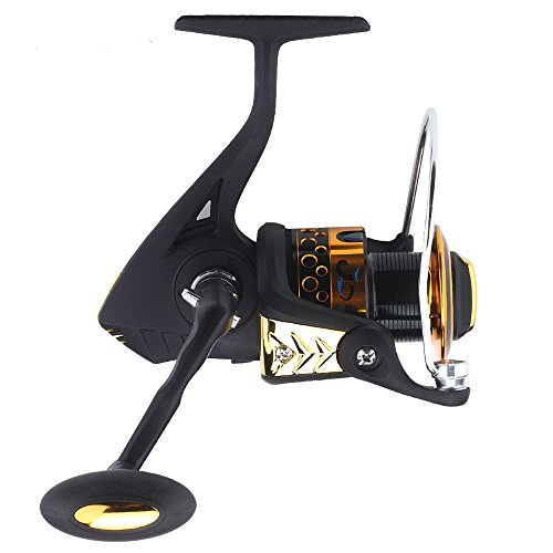 Cheap FYSHFLYER Braver R9F Series Premium Spinning Reel; Stainless Steel 7+1 BB; Alloy Body; 3# Aluminum Handle; Non-slip Knob; Black/Gold Colors Available