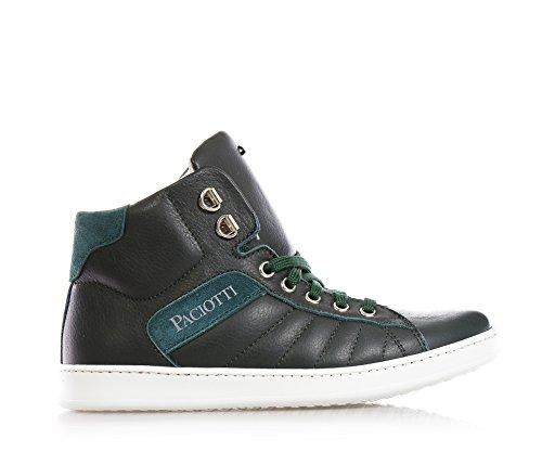 4US - SGrüne Sneakers mit Schnürsenkel, aus Leder, die richtige Wahl für diejenigen, Jungen