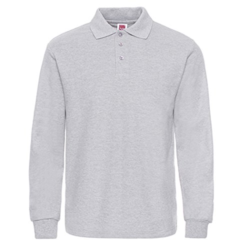 NeedBo Men's Long Sleeve Casual Solid Golf Polo Shirt – DiZiSports Store
