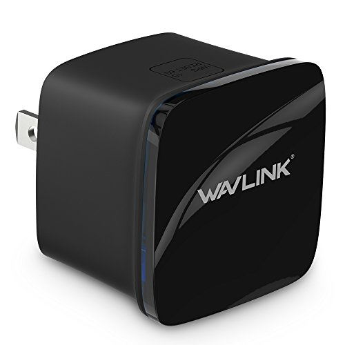 WiFi Signal Booster Repeater,Wavlink N300 Ultra-Mini Wi-Fi Range Extender,Universal Router Wireless Access Point with 3dBi Internal Antennas WPS Protection-Black by WAVLINK