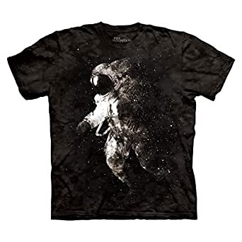 The Mountain Black Round Neck T-Shirt For Men