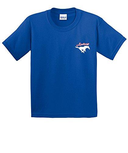 - NCAA Smu Mustangs Girls Cheer Loud Short Sleeve Cotton T-Shirt, Youth X-Large,Royal