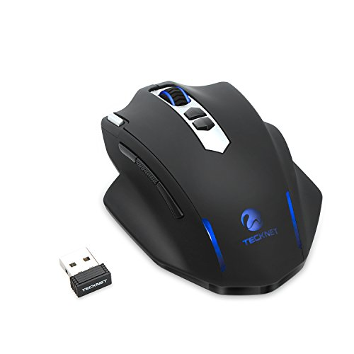 TeckNet Delteck 2.4G Nano Wireless Gaming Mouse, 500Hz Return Rate, 9 Buttons, 24 Month Battery Life, 2400 DPI 3 Adjustment Levels