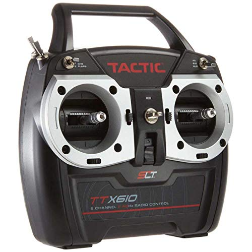 Tactic TTX610 SLT 2.4GHz 6-Channel RC Air Radio System: 6CH Tx | TR625 6CH Rx | No Servos (6 Channel Rc Helicopters)
