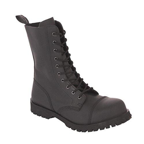 10-Loch Flat 601350 Black Stiefel Rangers Schwarz Stahlkappe Mono Größe 37 (UK 3)