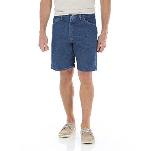 Wrangler Mens 5 Pocket Denim Shorts (48, Dark Stone)