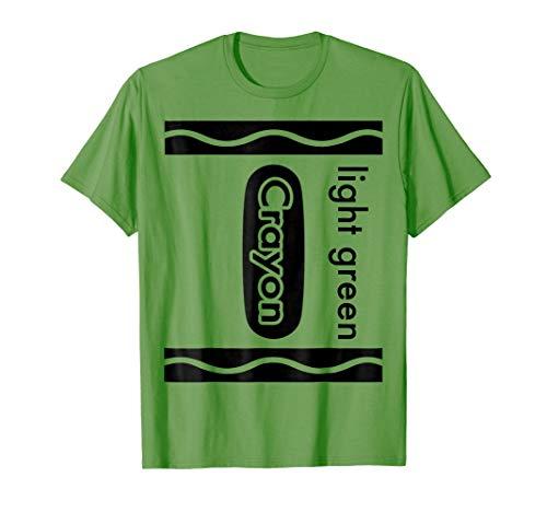 Light Green Crayon Halloween Costume T-Shirt Men Women