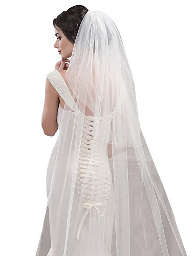 Bridal Veil Natalia from NYC Bride collection (cathedral 108'', white) by NYC Bride