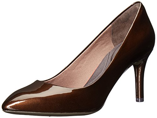 (Rockport Women's Total Motion 75mm Pointy Pump Dress, Bronze Pearl, 5 M US)