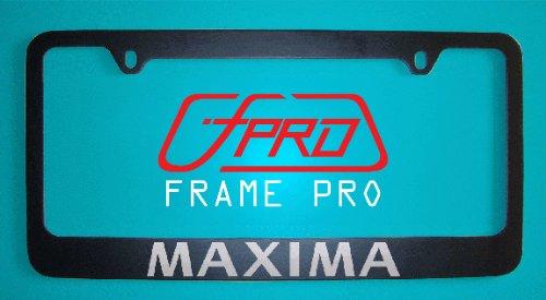 - Nissan Maxima Black License Plate Frame V1 (Zinc Metal)