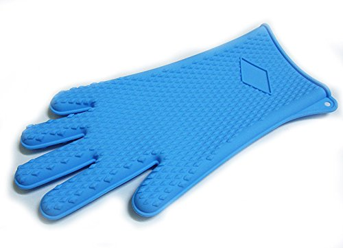Walfos Long Heat Resistant Silicone BBQ Gloves by Walfos