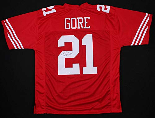 Frank Gore Autographed Signed Autograph 49ers Red Jersey JSA Authentic Certificate 5 Pro Bowl 2006 2009 2011 2013 ()