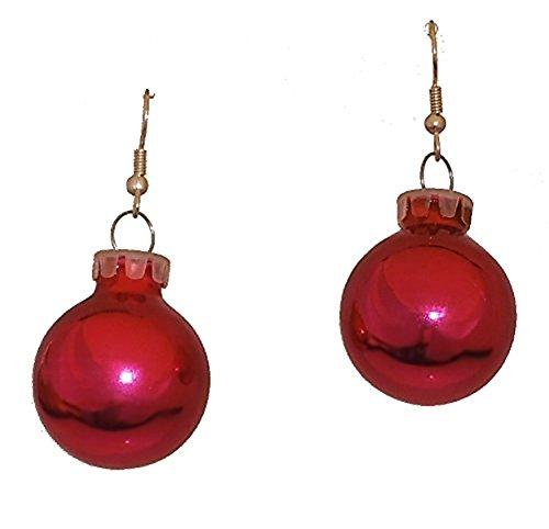 Fuchsia Pink Christmas Holiday Glass Ornament Ball Dangling ()