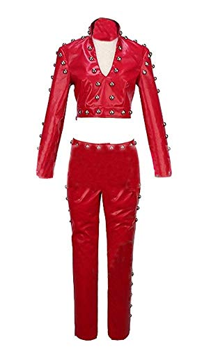 (HICOSER Fox's Sin of Greed Ban Dress Cosplay Costume Halloween Red Uniform Outfit)