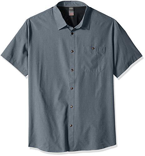 Quiksilver Men's TECH 2 Shirt, Orion Blue Heather, ()