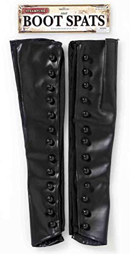 Suede Renaissance Boot Costumes - Forum Unisex-Adult's Steampunk Boot Spats, Black,