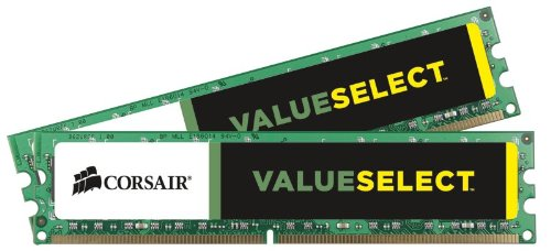 Corsair CMV8GX3M2A1333C9 ValueSelect 8GB (2x4GB) DDR3-1333 (PC3-10666) 1.5V Desktop Memory