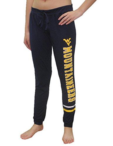 West Beach Pant (WEST VIRGINIA MOUNTAINEERS Womens NCAA Lounge / Yoga Pants L Dark Blue)